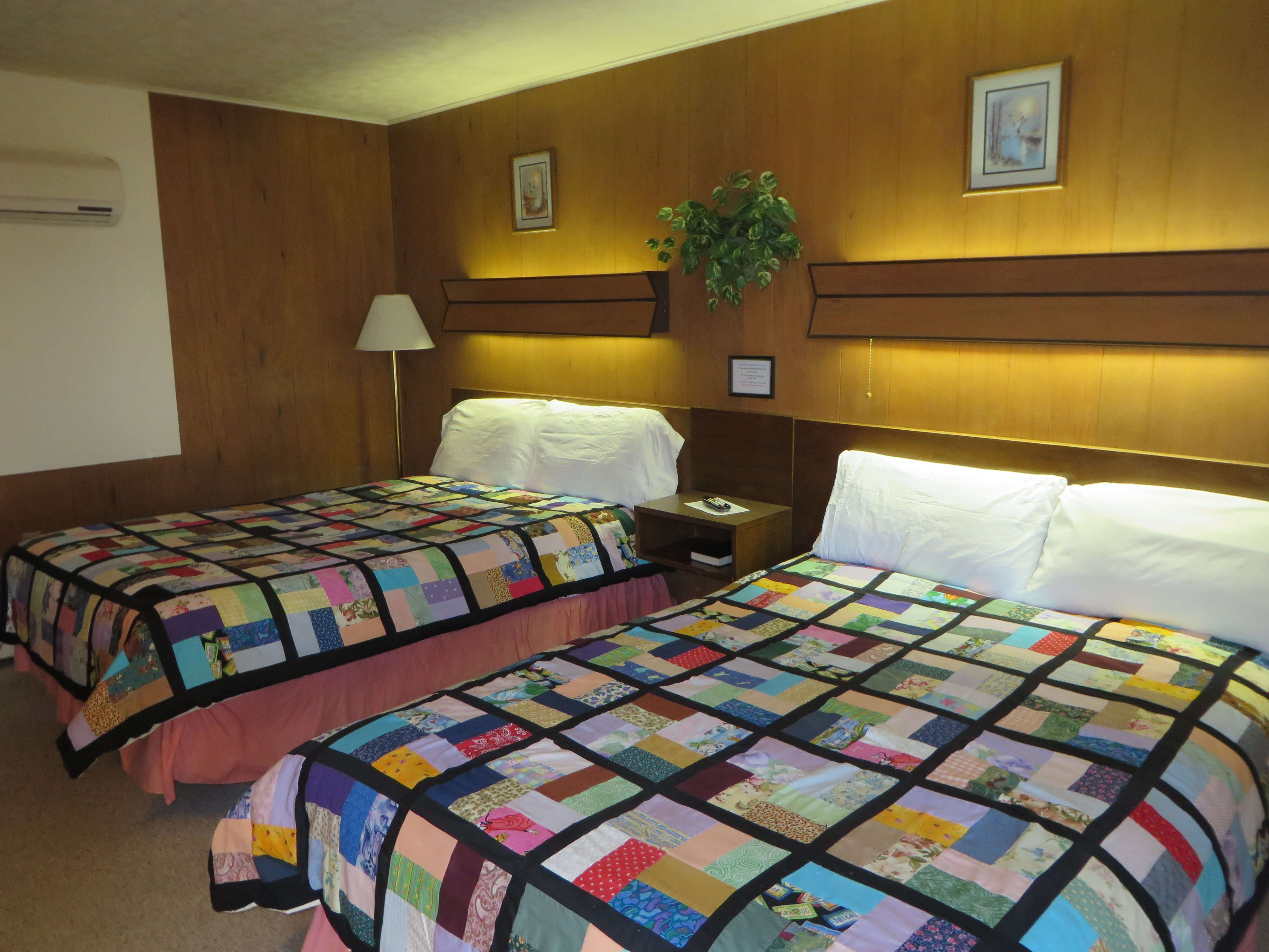 Room # 1. Our Mom makes all the comforter covers! Makes you feel right at home!