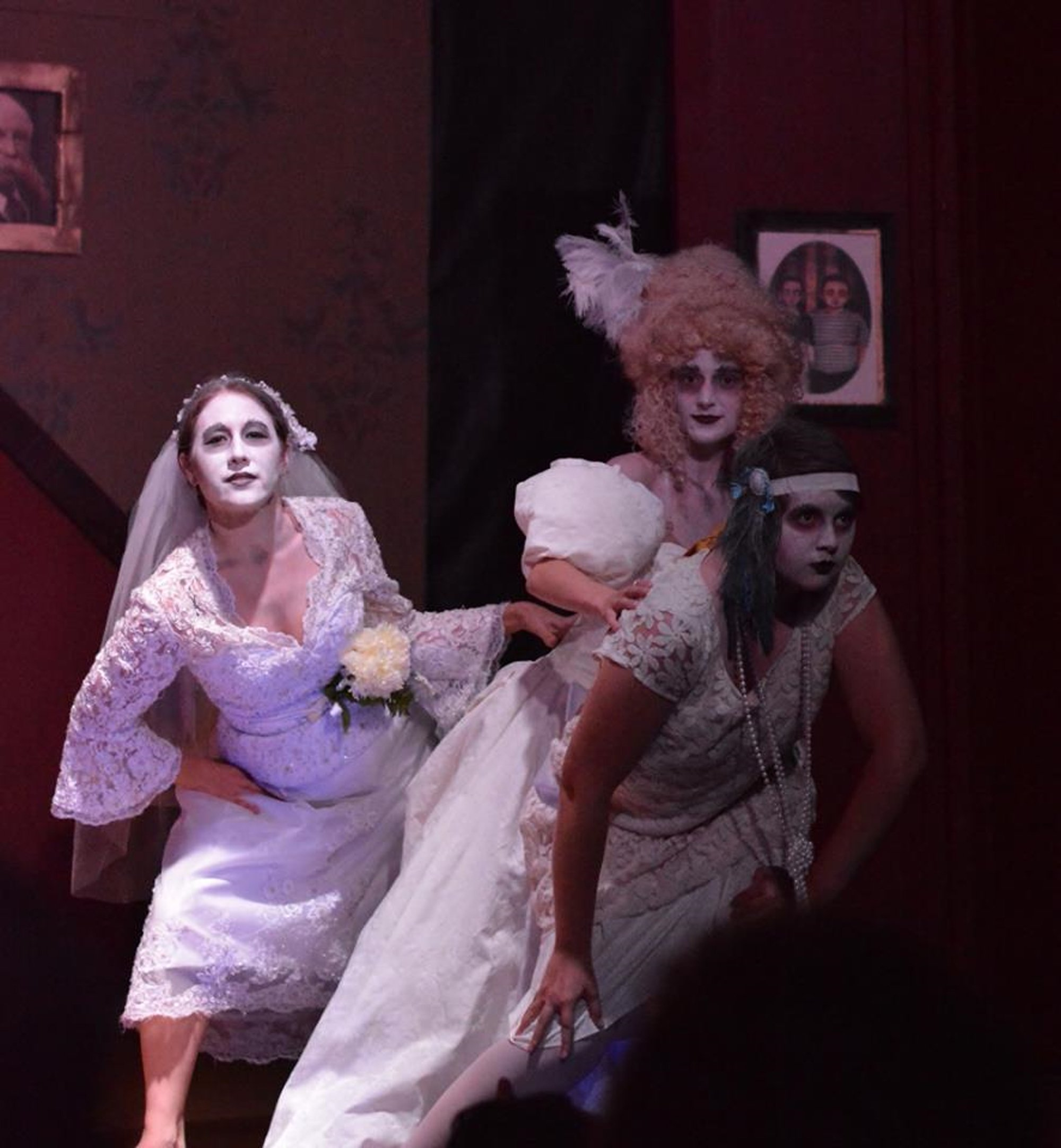 """The Ancestors, part of the Cast of our Community Theater production of """"The Addams Family"""" presented at the RFA Lakeside Theater in August 2016."""