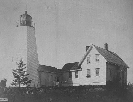 Historic, Coast Guard Photo of Dice Head Light