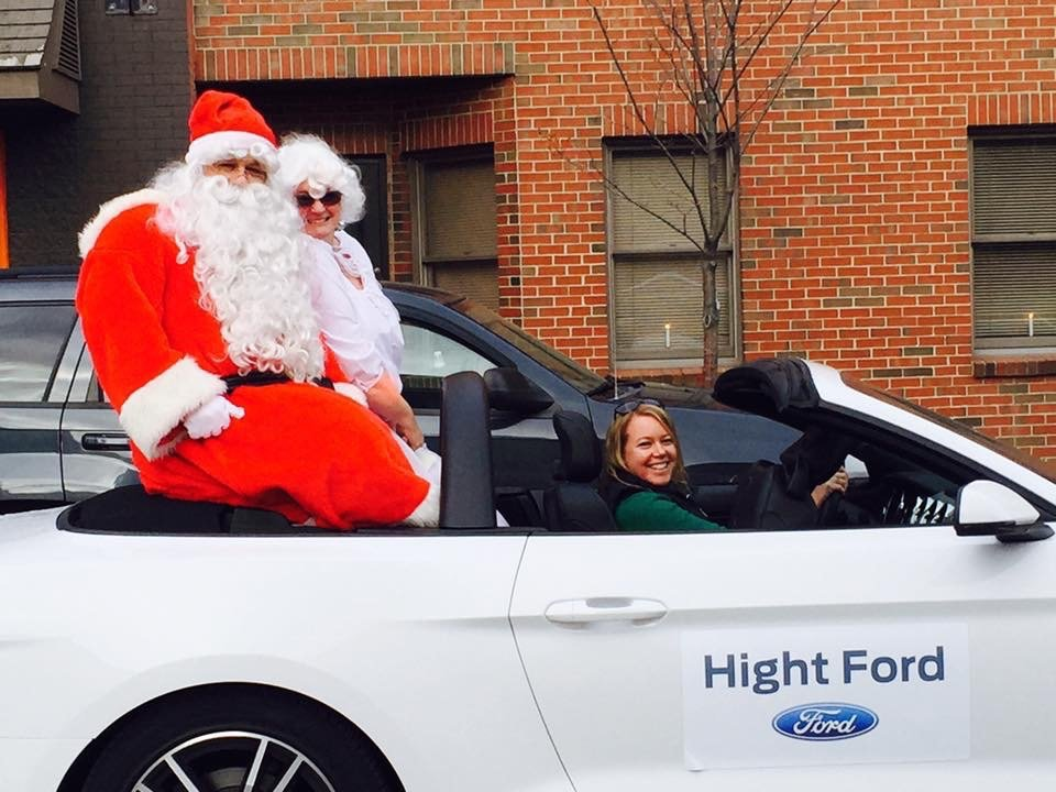 Santa and Mrs. Claus enjoyed a sweet ride at the Holiday Stroll in 2016.