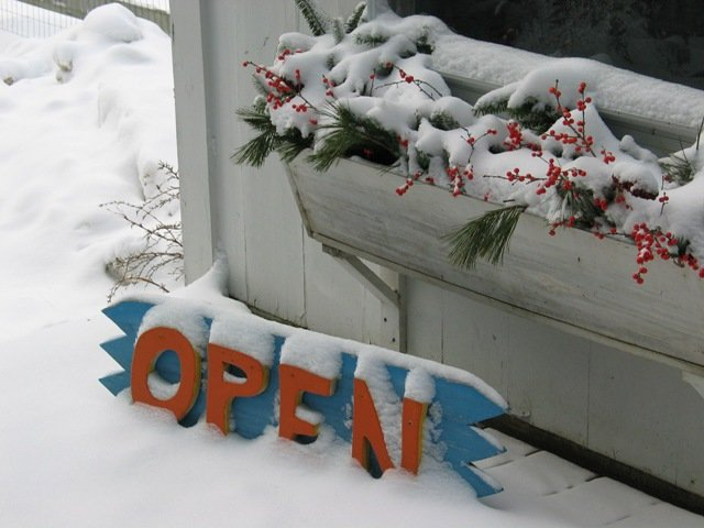 Yes, we are open in the winter. . . .