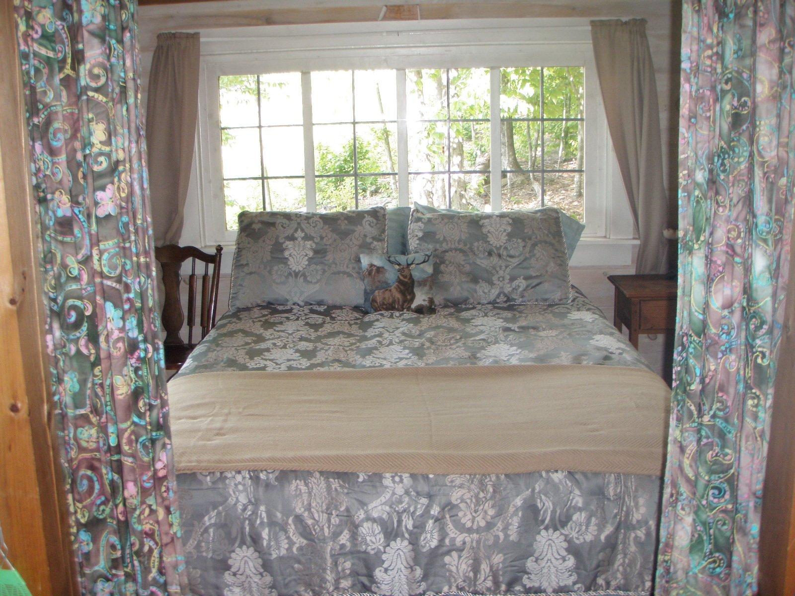 Queen bed in private bedroom