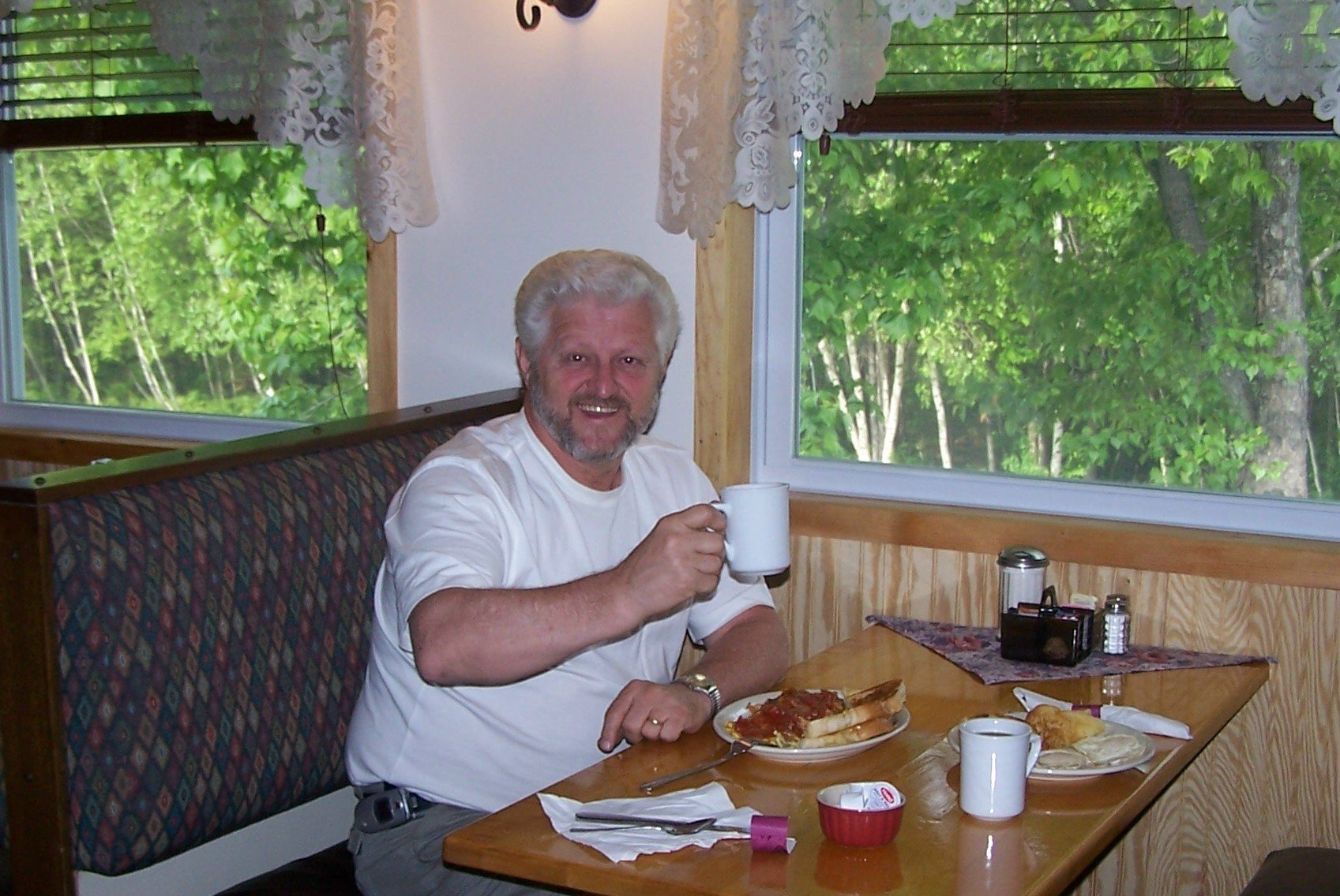 """Tim, on of the owners, says' """"Come on in and join us for breakfast!"""""""