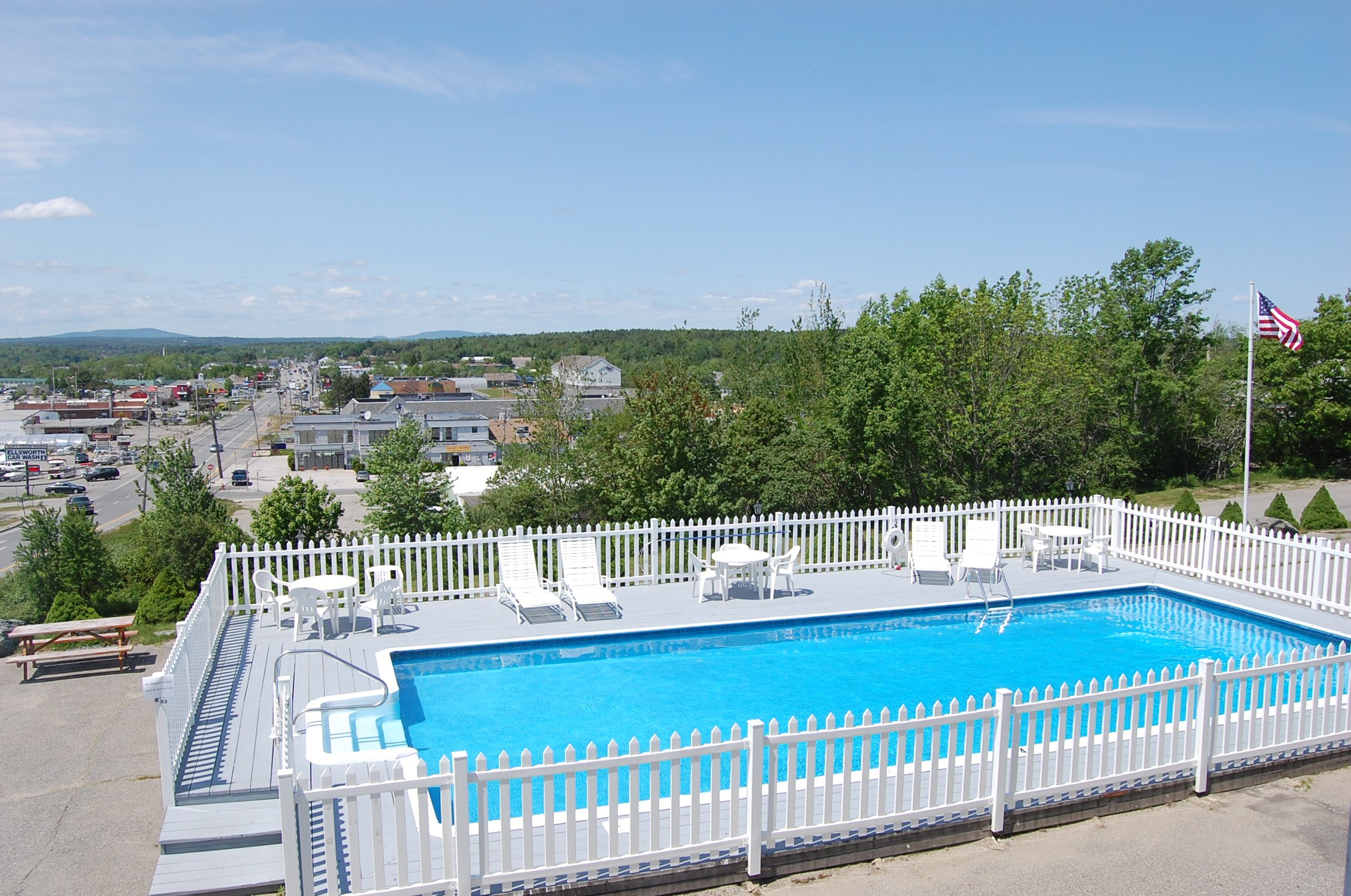 Our beautiful, heated, outdoor pool.