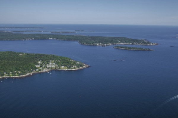 Aerial of Spruce Point Inn at Spruce Point Inn Resort, Maine