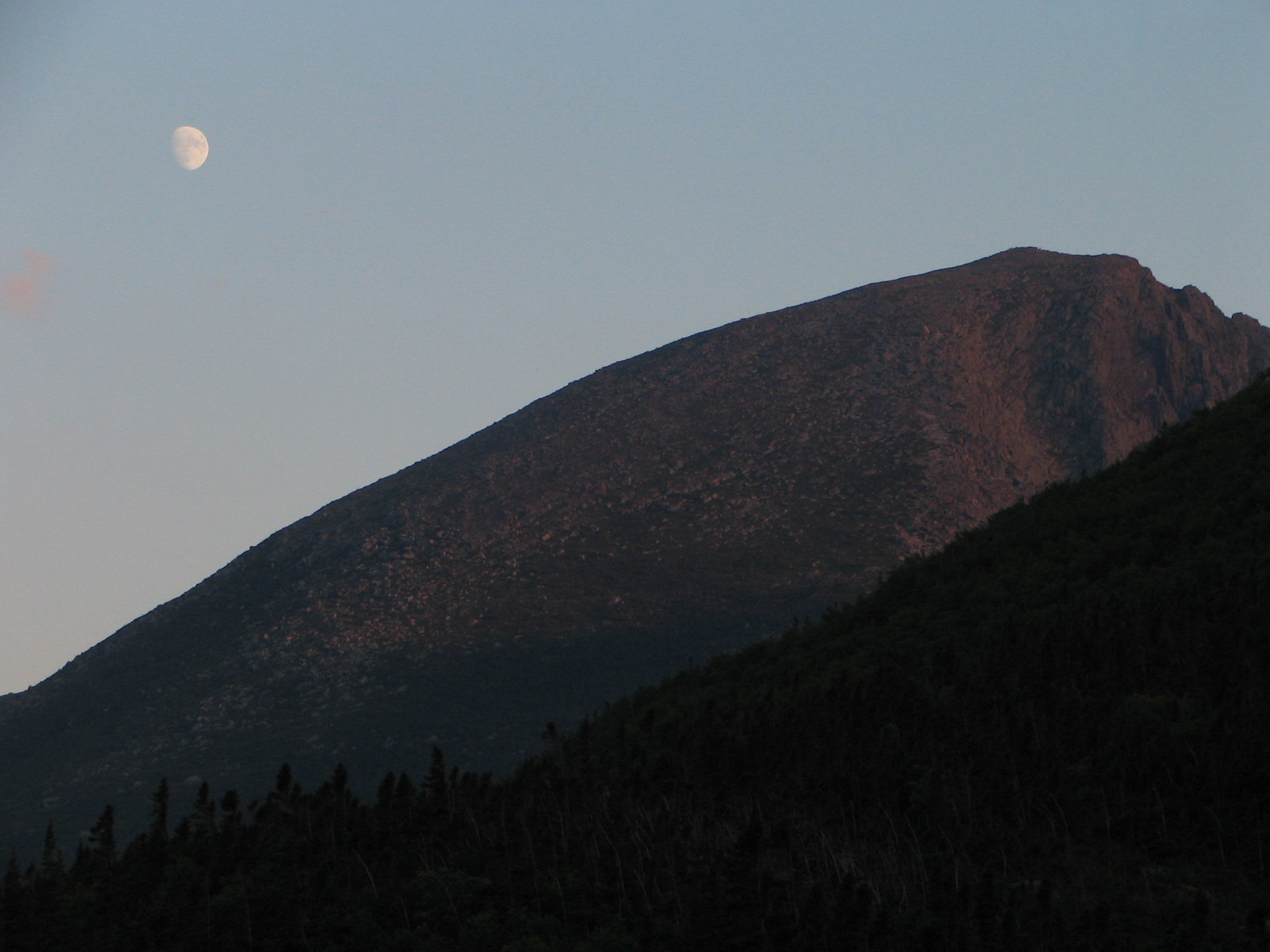 Moon Rise over Pamola Peak - Katahdin - Baxter State Park