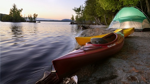 On the shore of Moosehead Lake at Lily Bay State Park