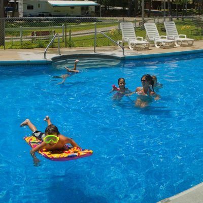 Visit our large, heated pool!