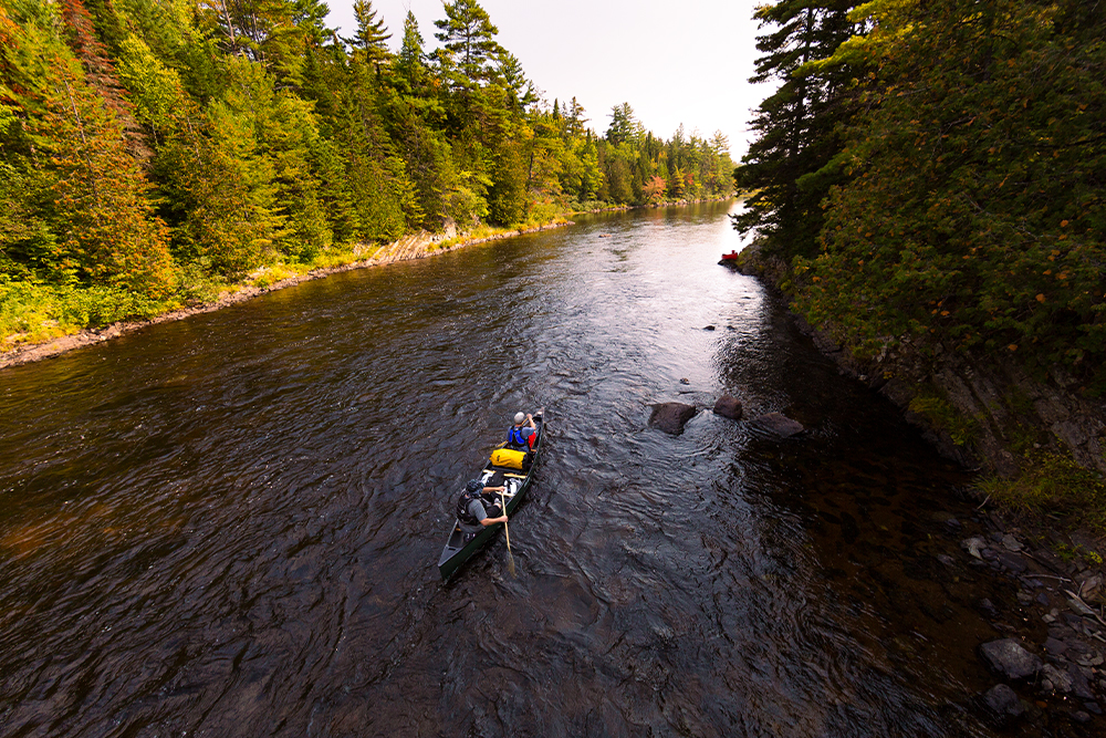 Canoeing in Katahdin Woods and Waters National Monument