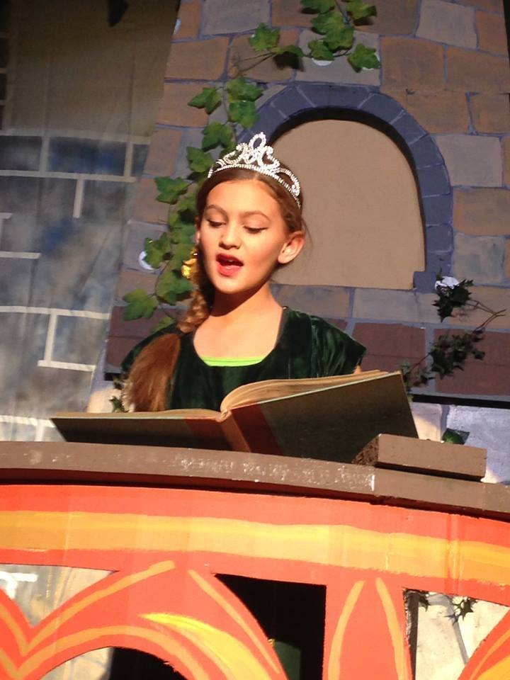 The RFA supports the Rangeley Lakes Regional School Productions with technology, sets and volunteers. This is a Middle School actress/singer from Shrek - The Musical, from 2016.