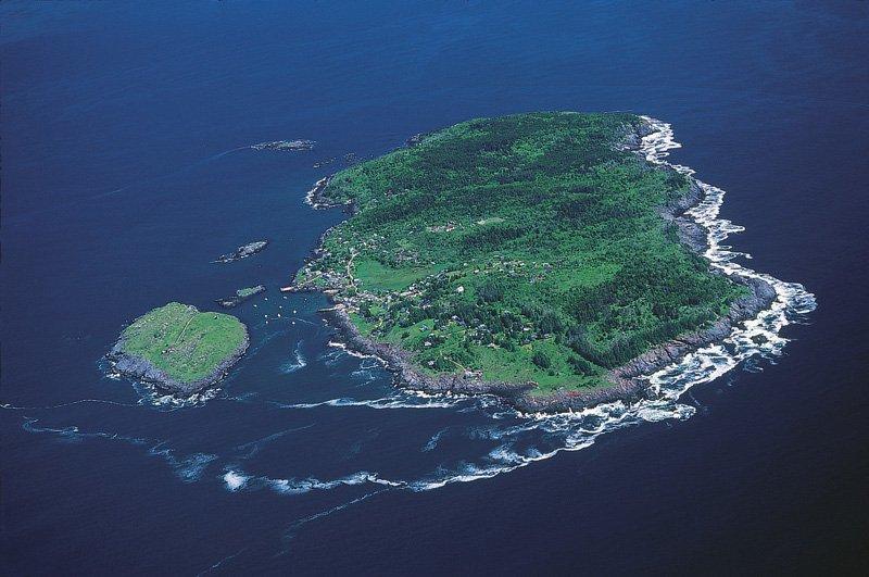 An Aerial View of Monhegan