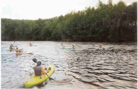 Kayak float trip on the Kennebec River