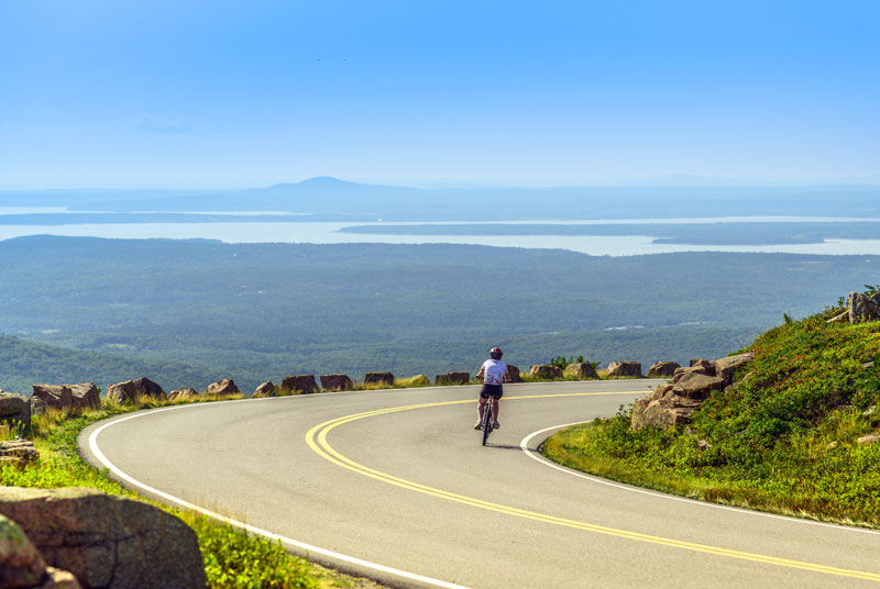Bike the Park Loop Road and Fire Roads of Acadia National Park