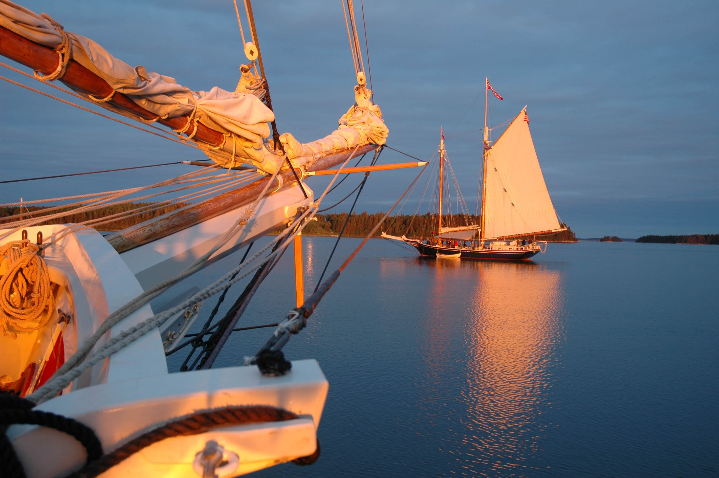 After a full day of sailing, guests enjoy a new anchorage each evening.