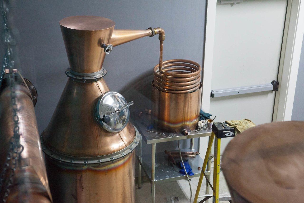 Handmade copper pot stills