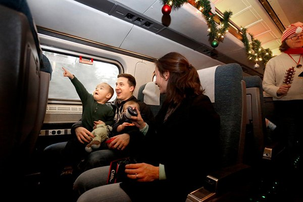 The Sparkle Express Train Ride aboard the Amtrak Downeaster