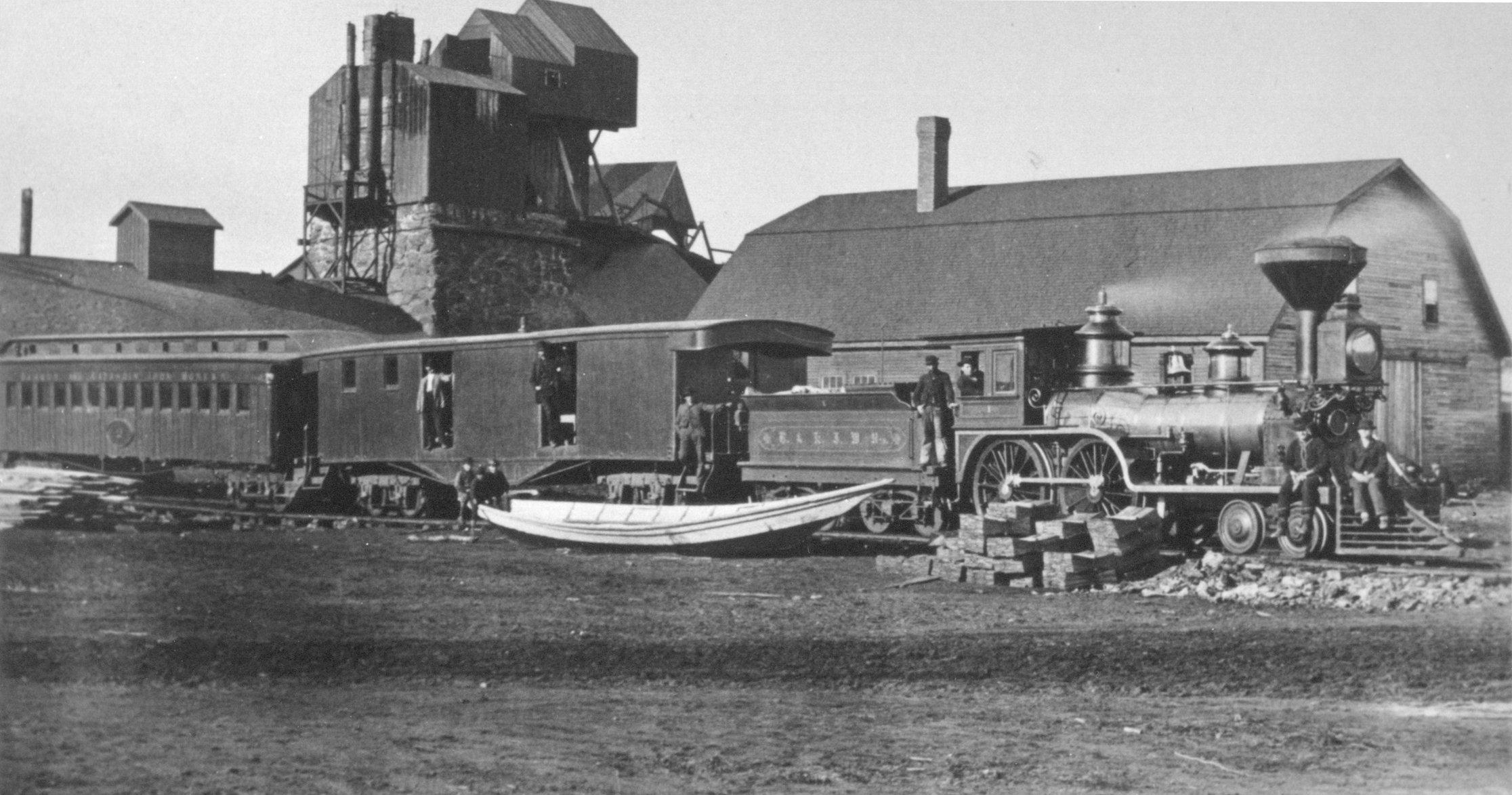 Historic photo of Katahdin Iron Works