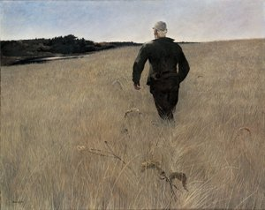 Andrew Wyeth, Turkey Pond, 1944, tempera on panel, 32 1/4 x 40 1/4 inches, Gift of Mr. and Mrs. Andrew Wyeth in memory of Walter Anderson, 1995.2