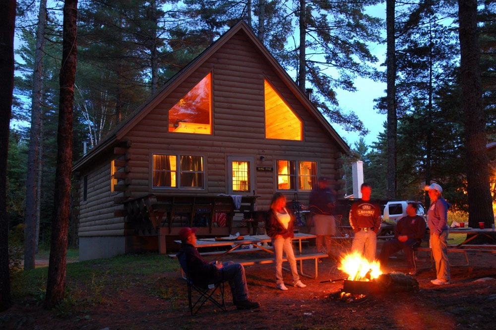 Evening campfires are not reserved only for our campground guests! Every cabin has a firepit area to enjoy with friends in the evenings.