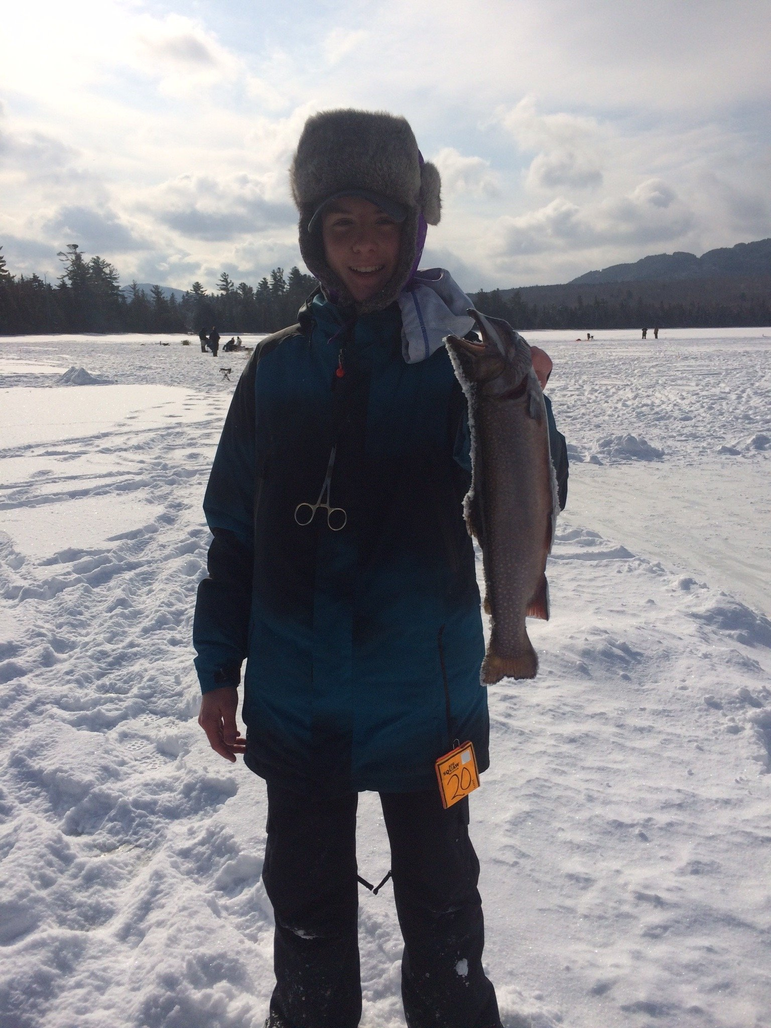 Caleb with a beautiful Brook Trout from Mountain View Pond!