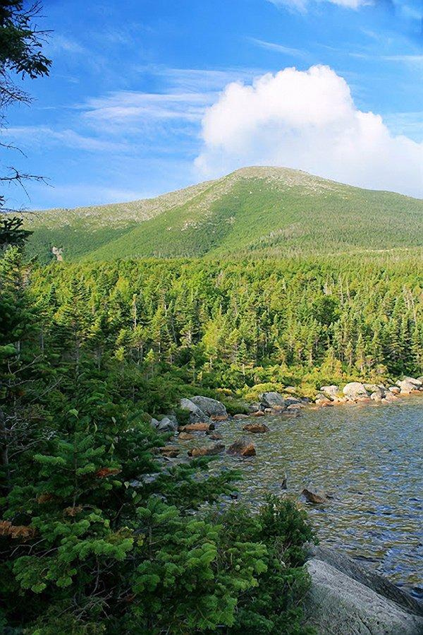 View of Mount Katahdin in Maine.