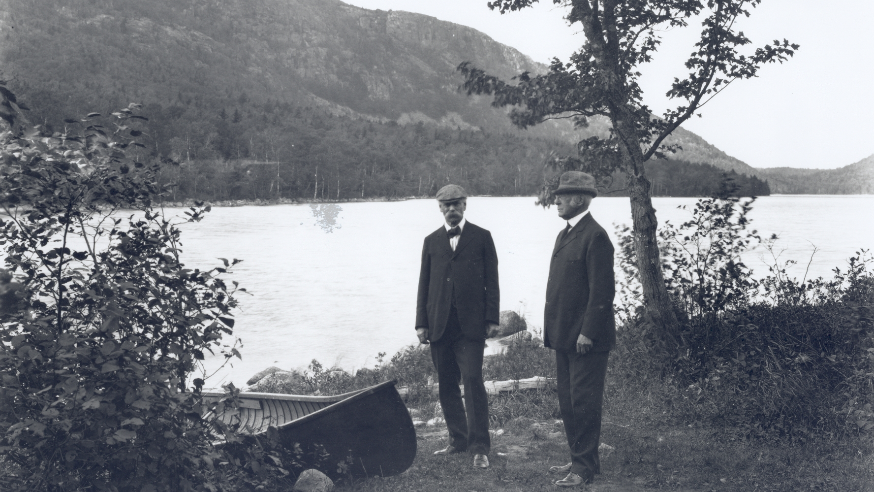 George Dorr and Charles W. Eliot, two influential figures in the founding of Acadia. Courtesy National Park Service/Acadia National Park
