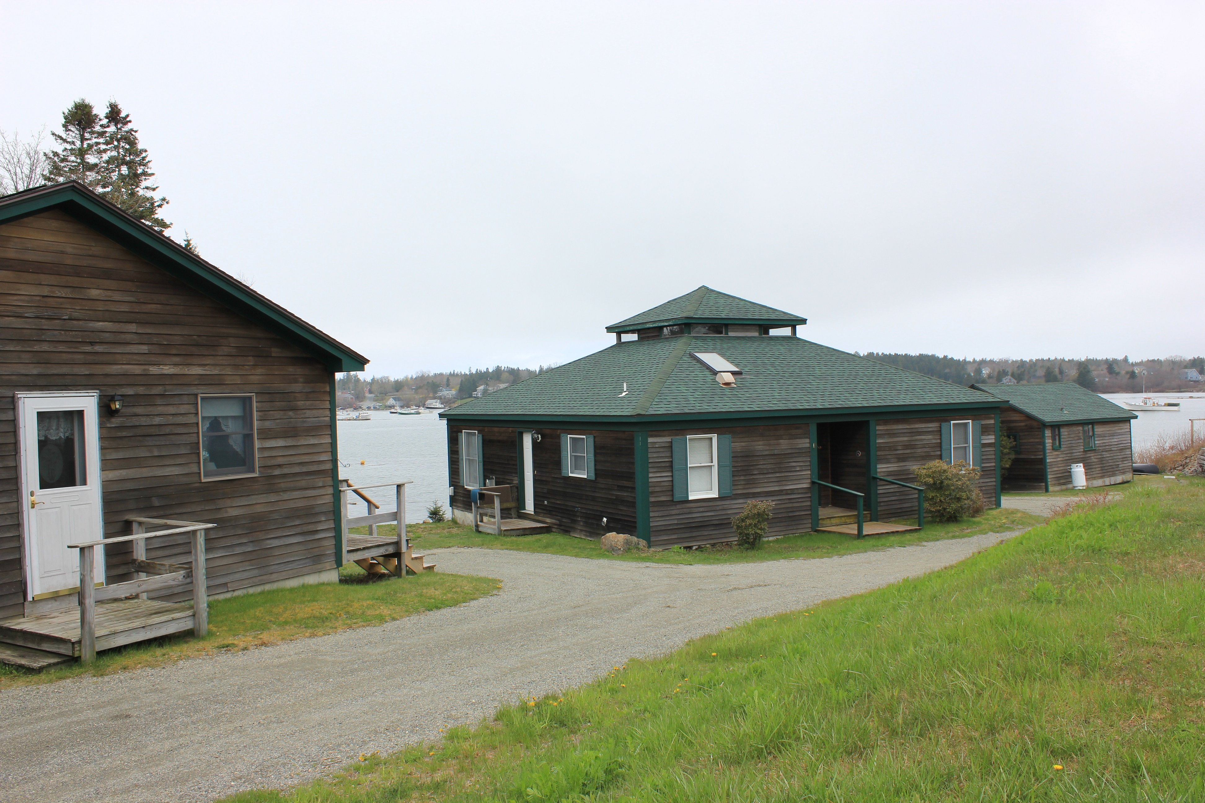 View of the cottages looking towards Bass Harbor