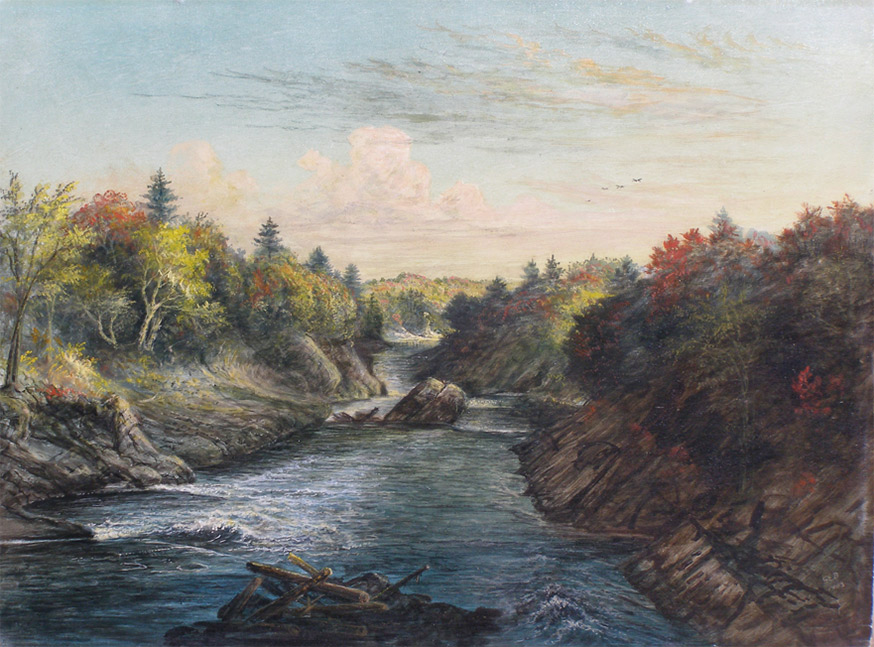 Gibeon Bradbury, 'Salmon Falls,' 1903. Saco Museum Collection.