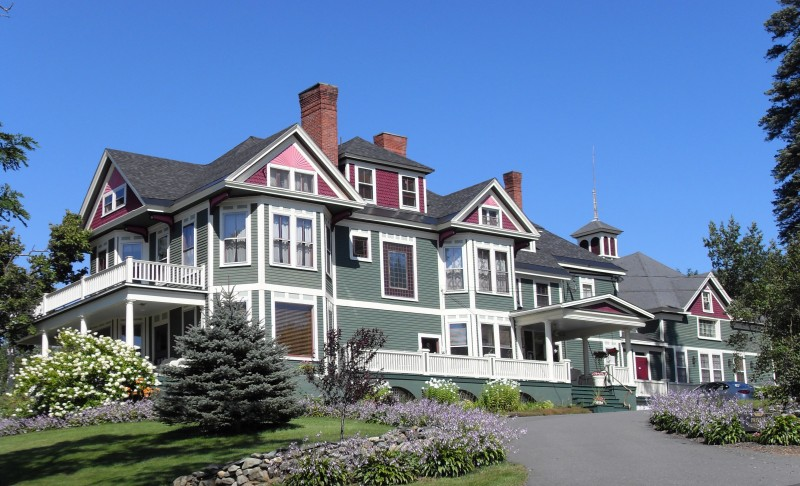 Historic lumber baron's mansion overlooking Moosehead Lake
