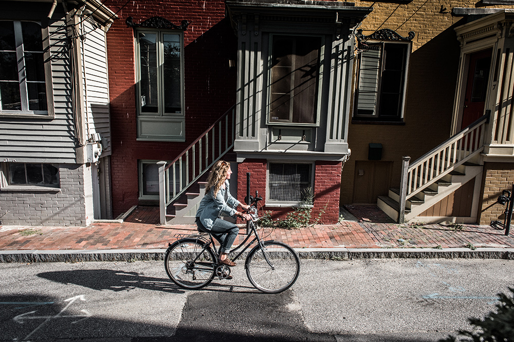 Biking in Portland, Maine