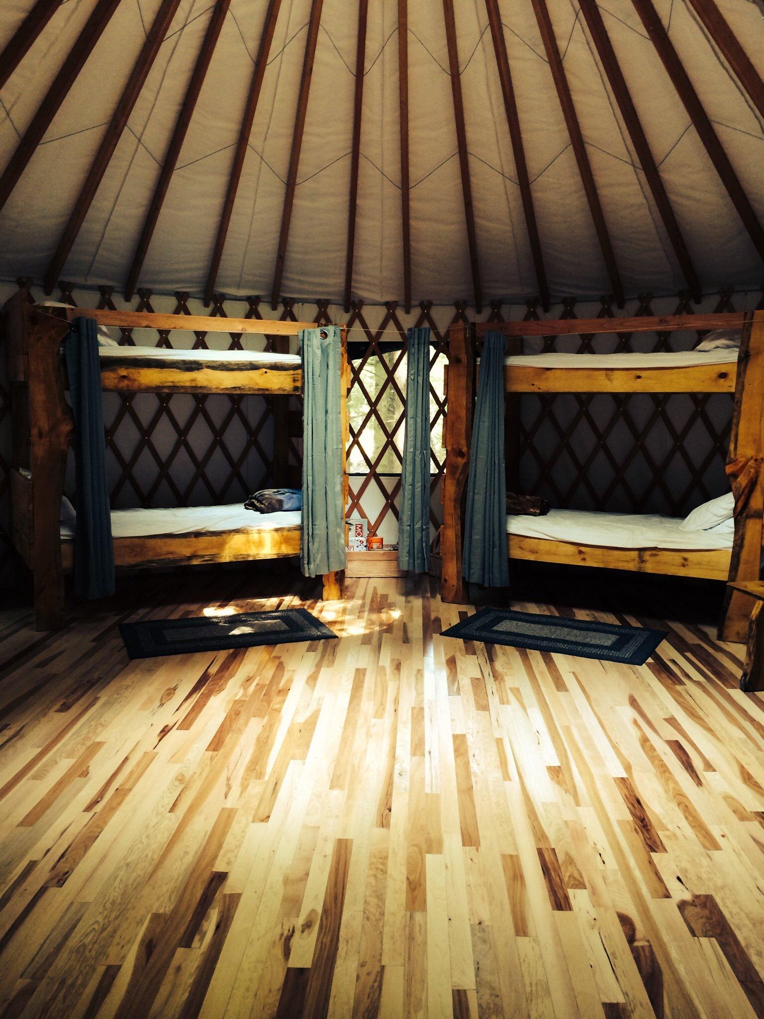 Bunk beds at Hemlock Ridge Yurt