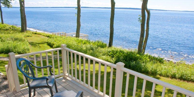 Private waterside decks