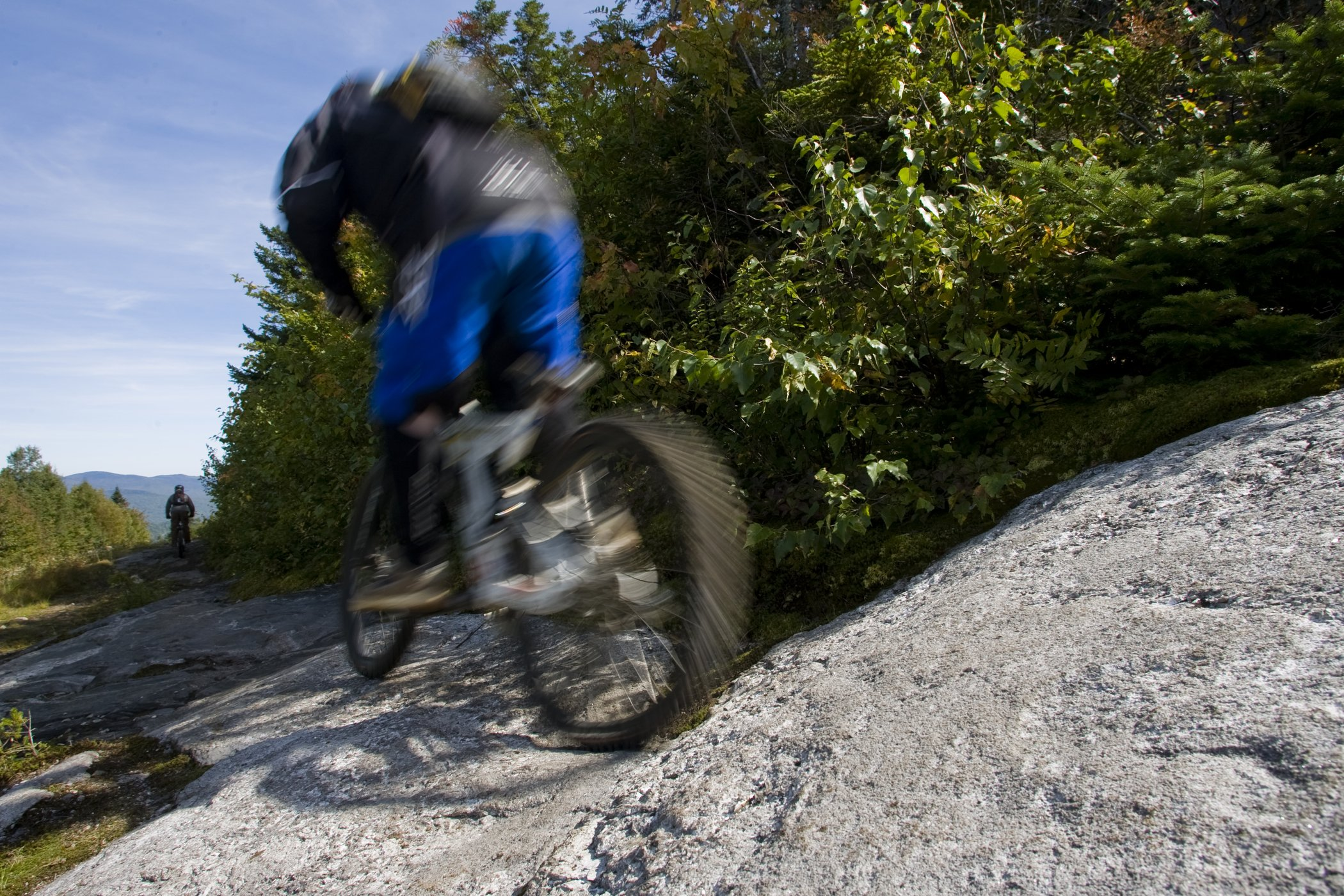 Sunday River Mountain Bike Park is home to 20 miles of lift-serviced downhill terrain and a new Mountain Bike School for those riders looking to elevate their skills.