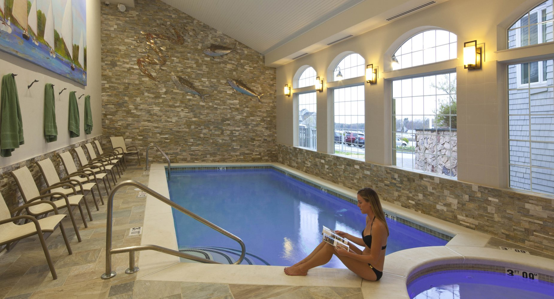 This is our indoor pool and hot tub, totally reconstructed in 2012.