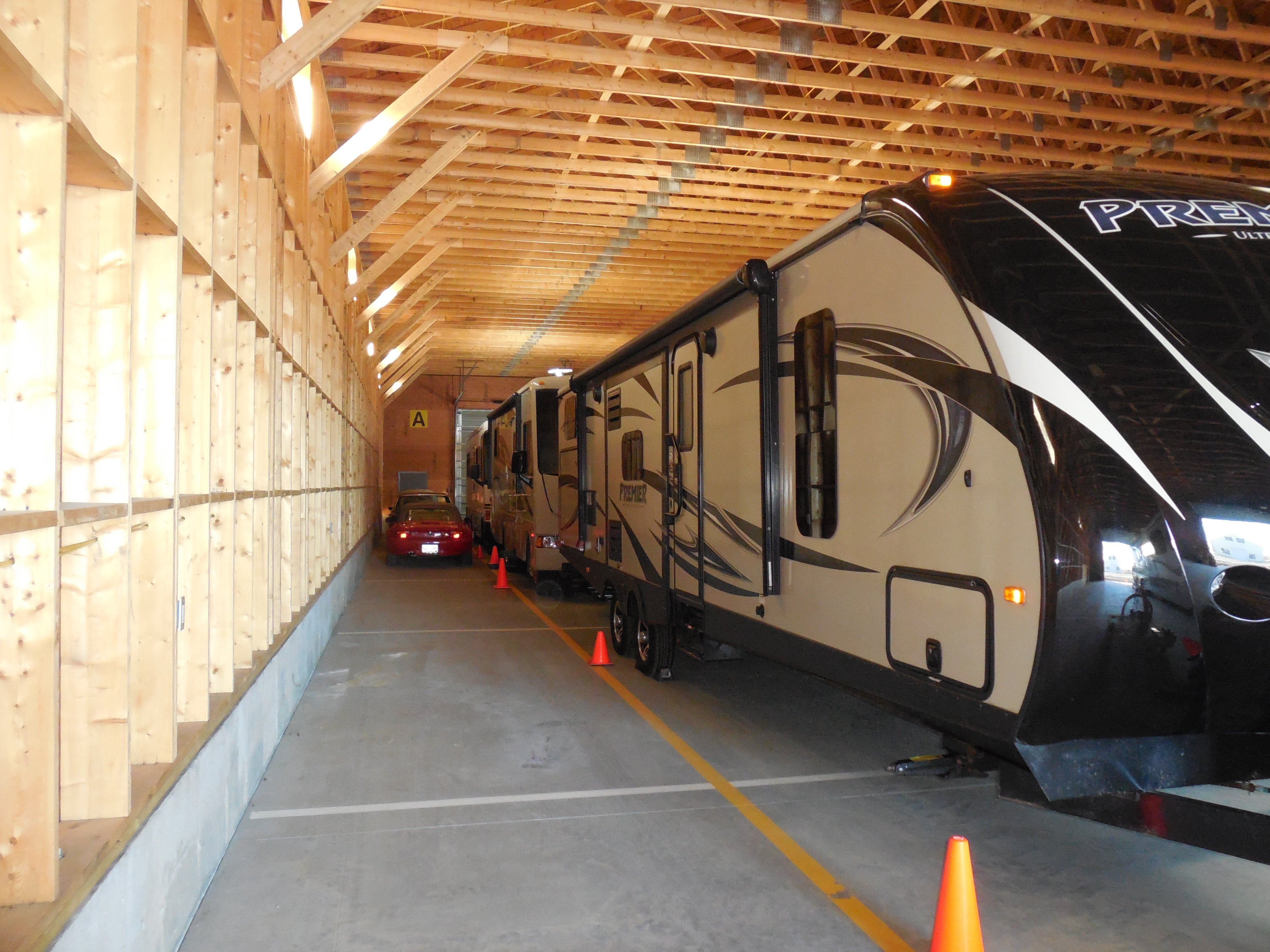 Interior - 160 foot long RV storage constructed 2014