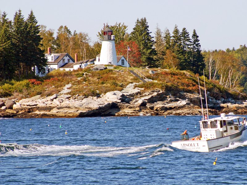 Burnt Island Lighthouse in Boothbay Harbor.