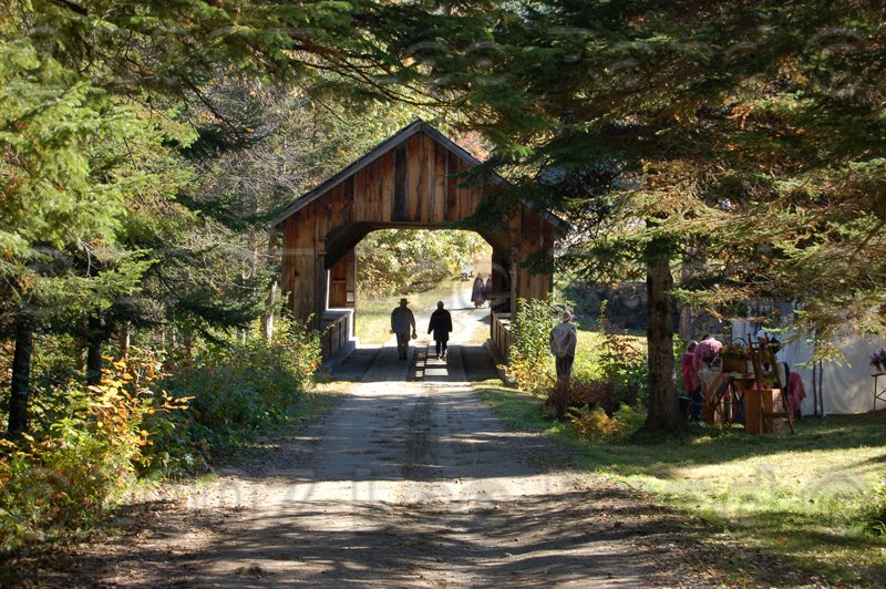 One of the still usable covered bridges in the state of Maine.