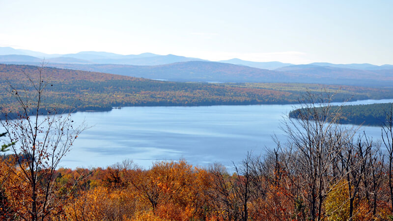 Take a relaxing drive and look out over miles of lakes, mountains, and seemingly untouched forests
