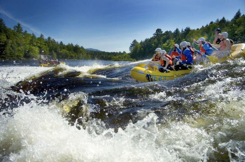 Whitewater rafting.