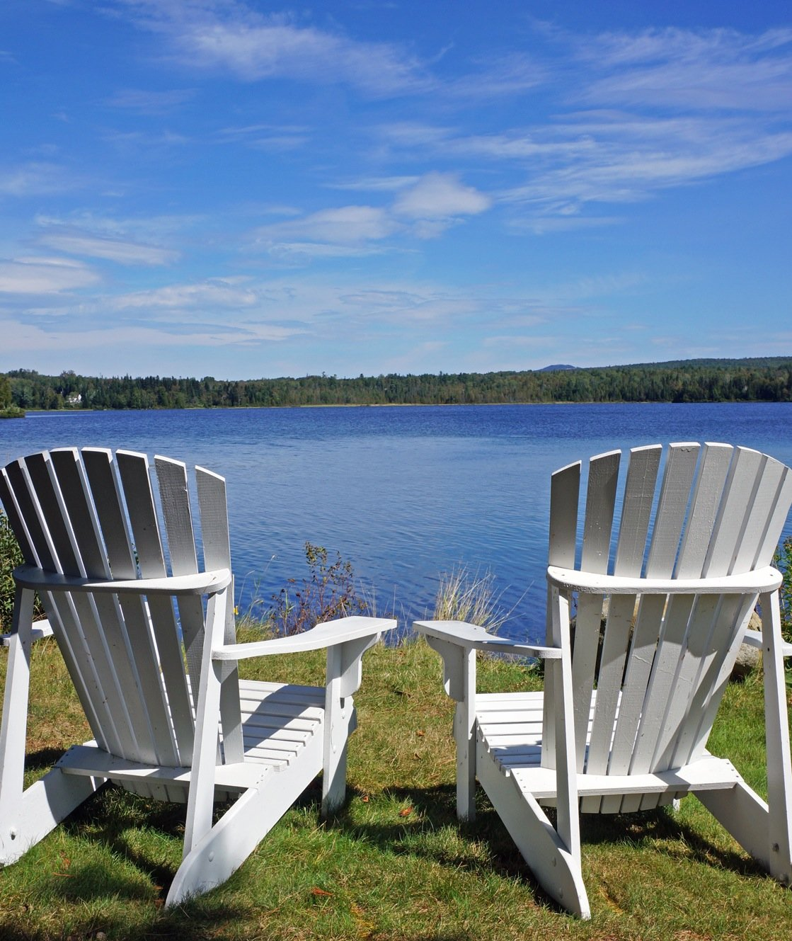 Our property is surrounded on two sides by Haley Pond, offering sweeping waterviews, beautiful sunrises, and the sound of loons.
