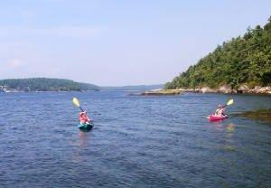 Kayaking at White Rocks