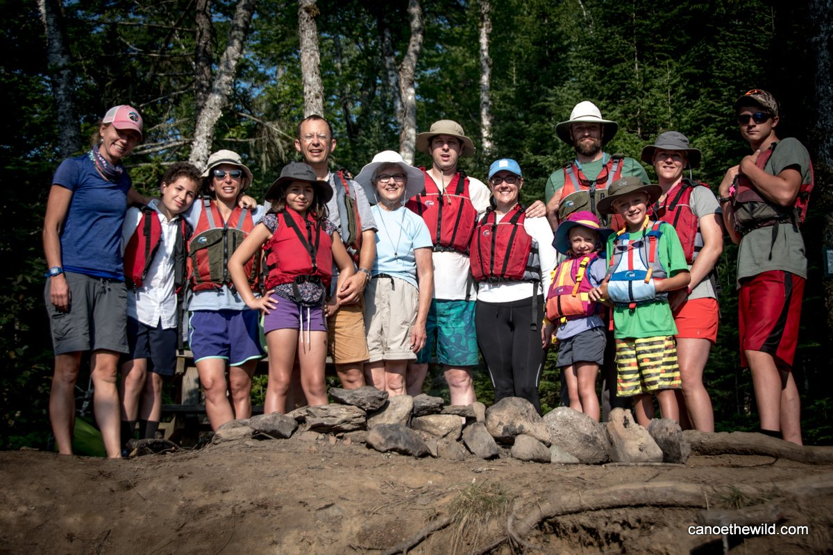 Combined families on the St. Croix River canoe trip