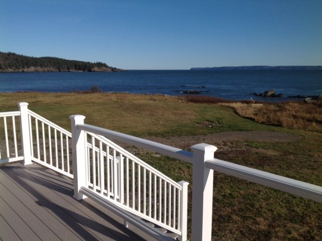 A view of West Quoddy Head from the rear deck