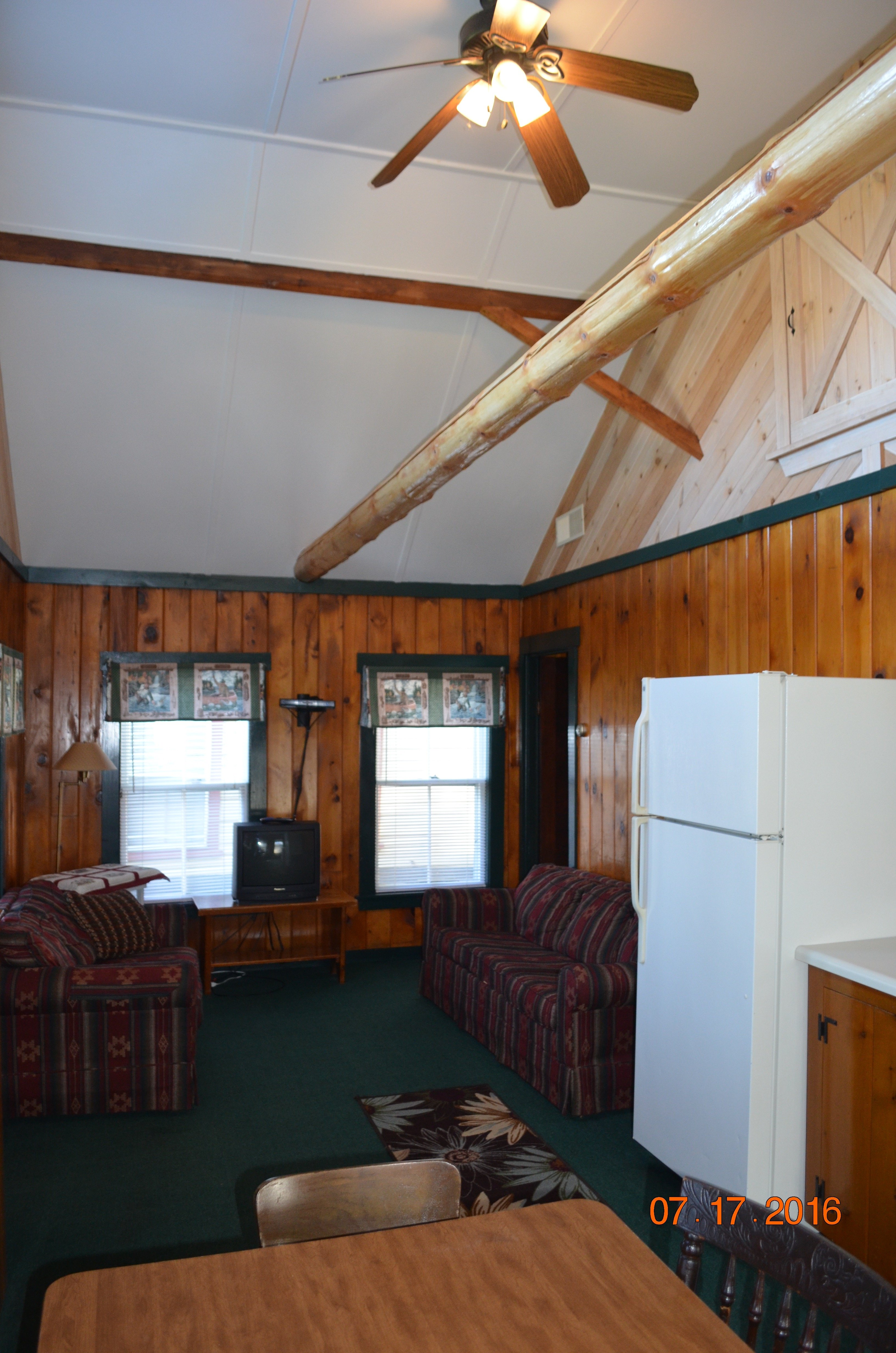 Piscataquis living room/kitchen