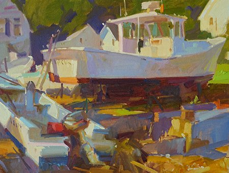 Brown's Boatyard by Colin Page