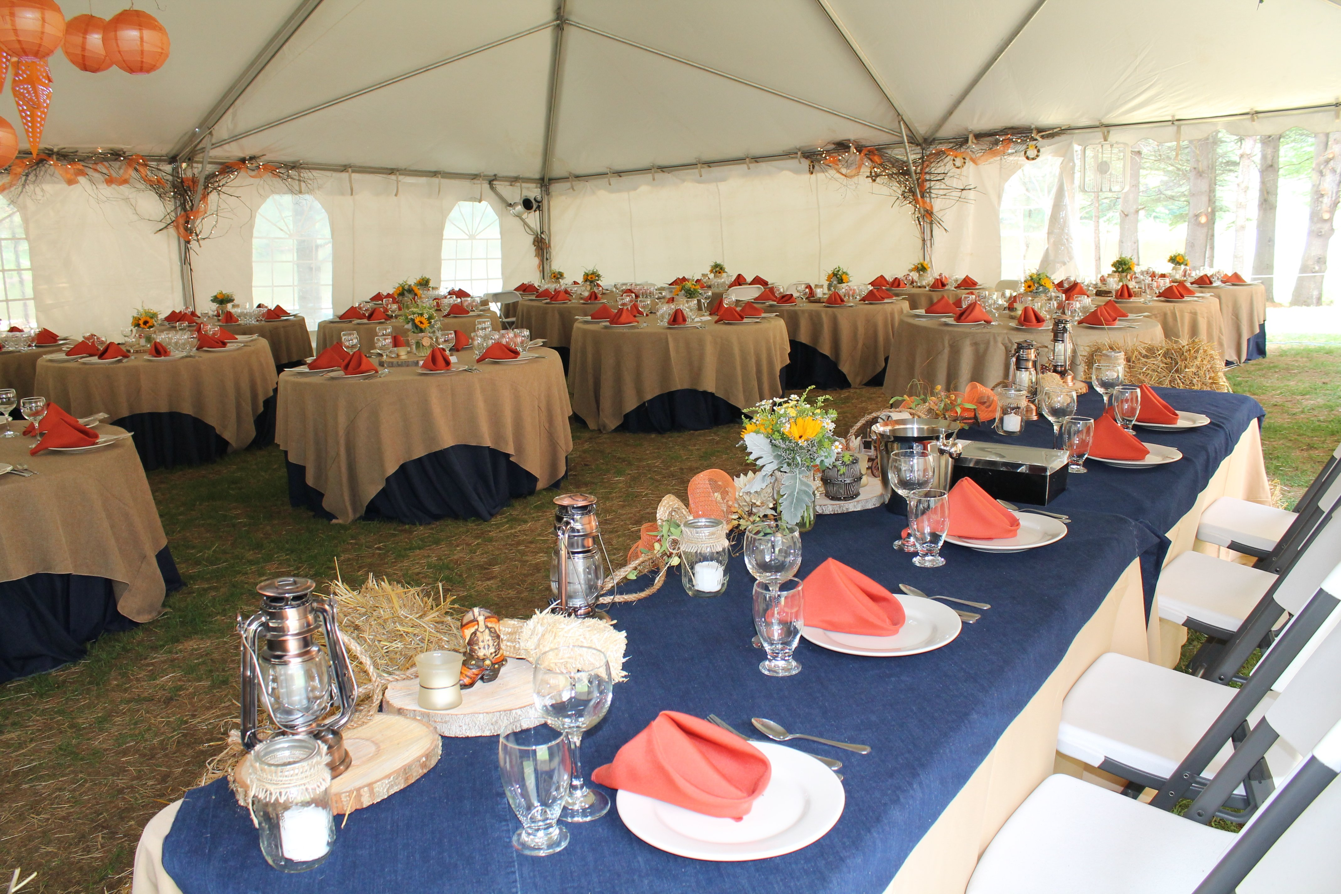 Choose your tent to make the reception truly all about you.