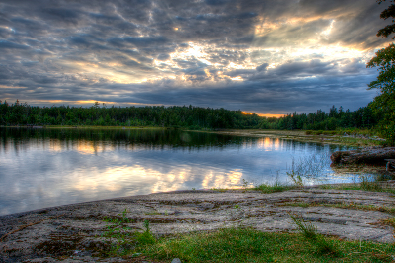 Sunset over Round Pond, Allagash, Maine. – Joel Sanford