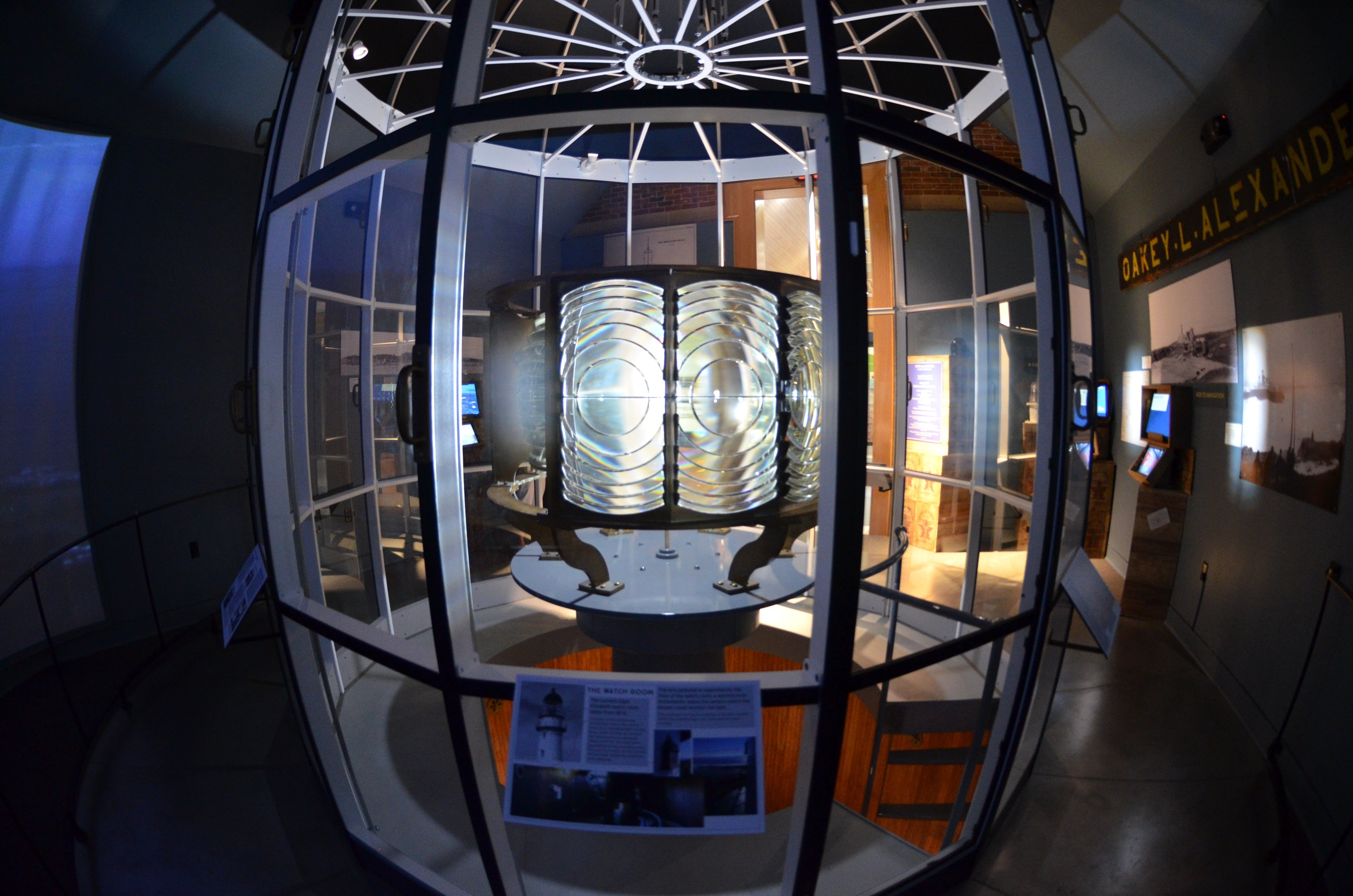 Feel what it's like to stand at the top of a lighthouse in our immersive exhibit Into the Lantern: A Lighthouse Experience.