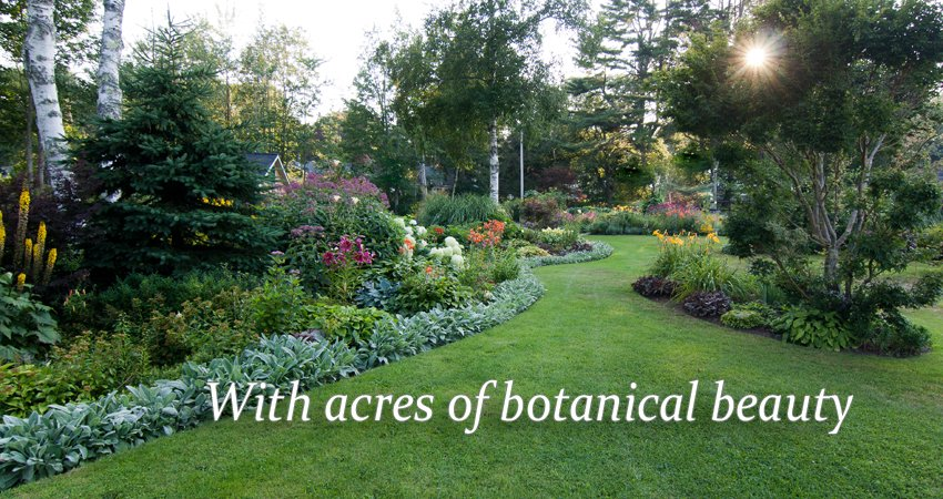 Acres of private TLC gardens to wander