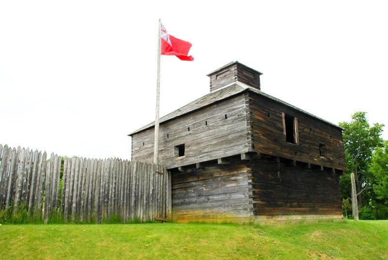 Fort Western blockhouse.